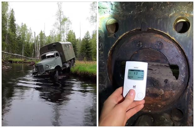Автоблогеры на ЗИЛ-157 пробрались к заброшенному ДОТу на линии Сталина (видео)