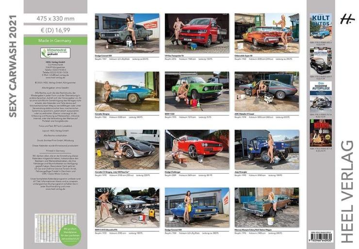 Сексуальные девушки и автомобили в календаре Sexy Carwash 2021 (13 фото)