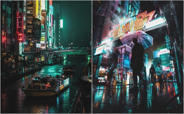 Кинематографические уличные снимки Японии Оми Ким (25 фото)