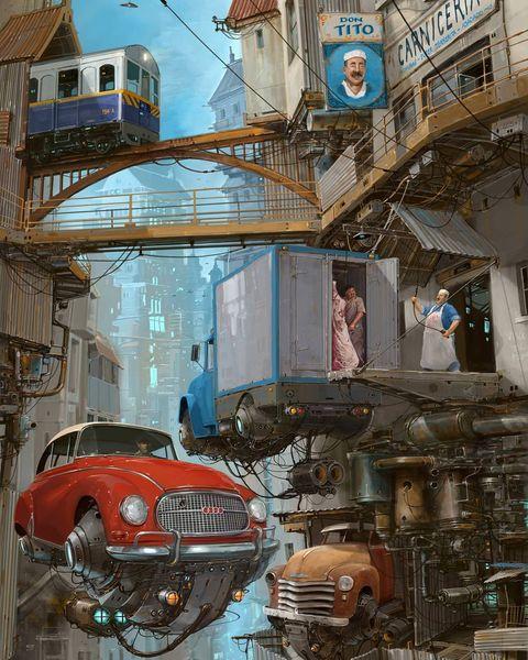 Хроники небесных городов фантастические иллюстрации Алехандро Бурдисио (42 фото)