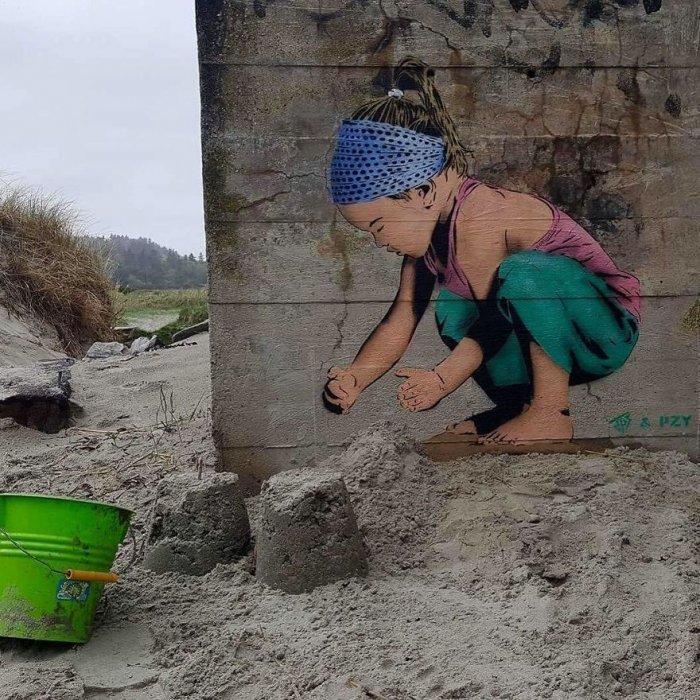 Стрит-арт в гармонии с окружающей средой (50 фото)