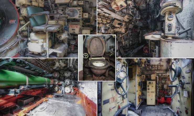 Захватывающие снимки показывают тесноту внутри советской подводной лодки времен Холодной войны