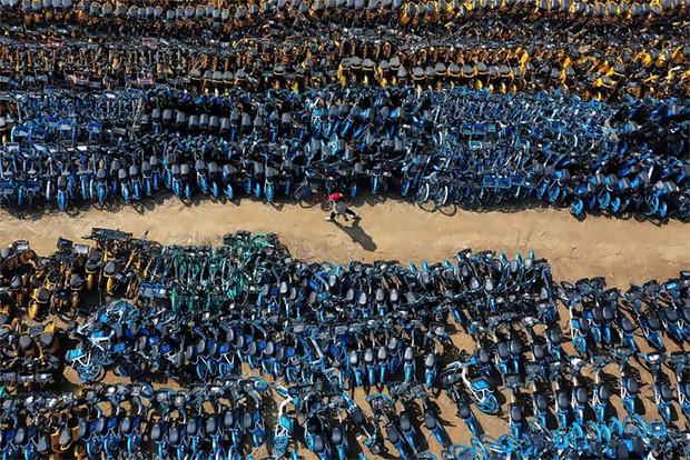 Китайское кладбище велосипедов