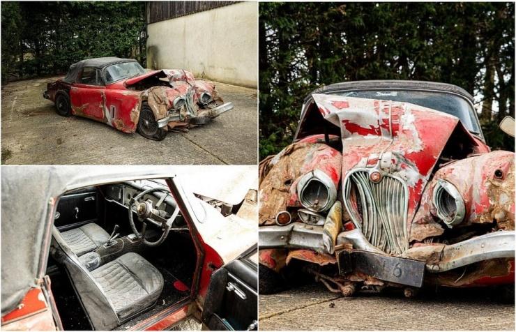 Ржавый и побитый Jaguar продали на аукционе за ошеломляющие 90 000 фунтов стерлингов