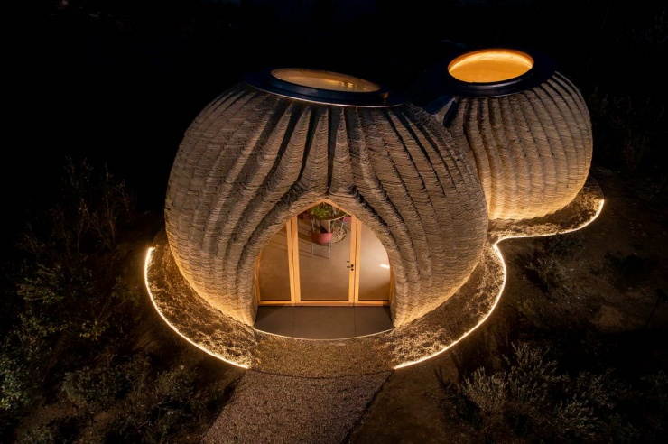 Дом из глины, напечатанный на 3D-принтере