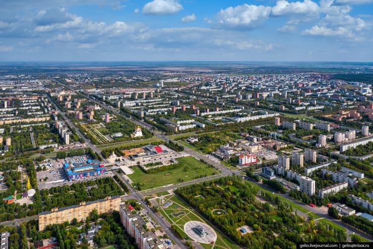 Тольятти с высоты  российская столица автомобилестроения