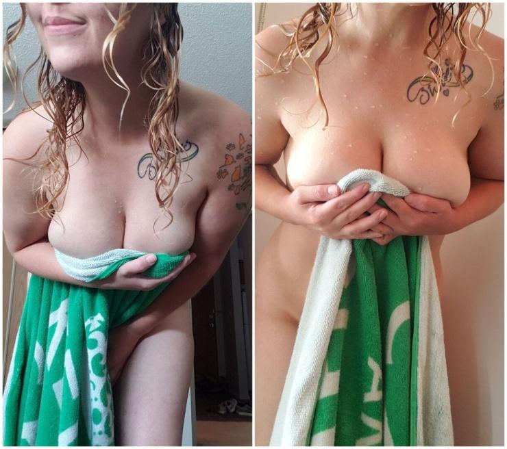 Утренние девочки Разгоряченные девушки в полотенцах от 4.07  фото