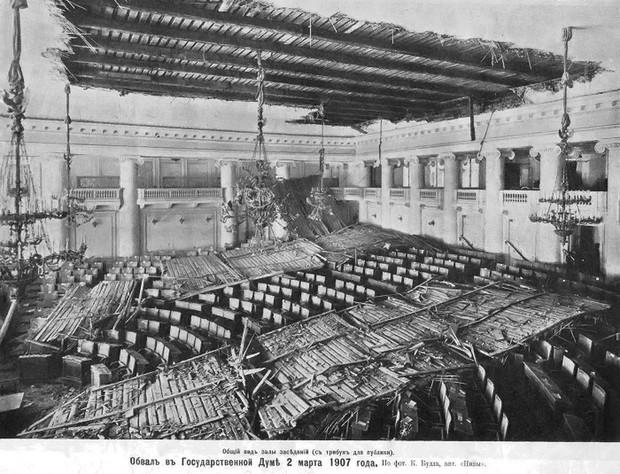 Фото дня Обрушение крыши российской Госдумы, 1907 год