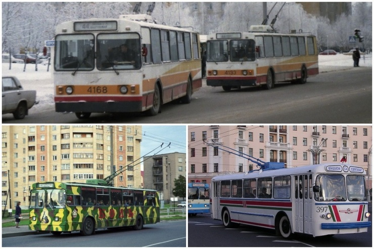 Классика под проводами вспоминаем минские троллейбусы ЗиУ и их родственников