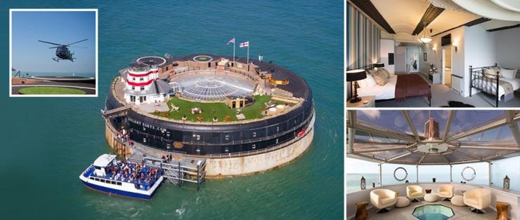 Невероятный военный форт с 23 спальнями у побережья острова Уайт продается за 4,25 млн