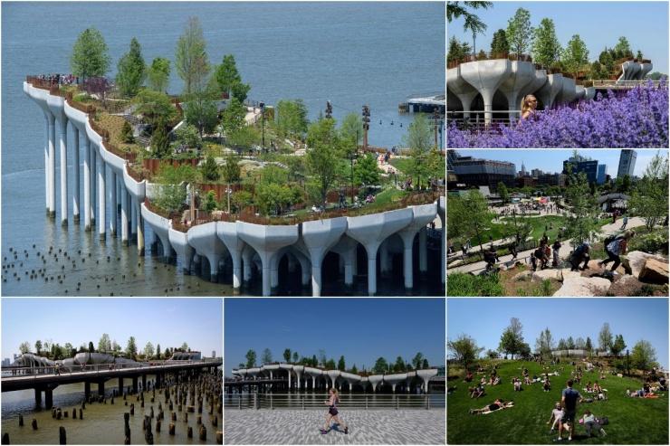 Новая достопримечательность Нью-Йорка парк Литл-Айленд (30 фото)