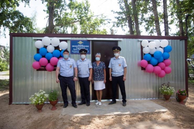 В Вологодской области открыли пункт полиции в грузовом контейнере