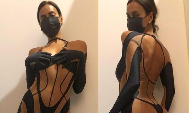 Ирина Шейк выложила в Инстаграм манящее фото в прозрачном эээ костюме