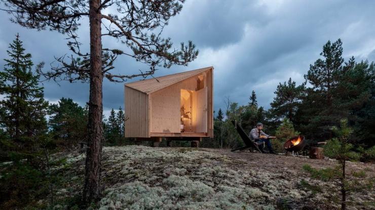 Универсальный микродом площадью 10 м в Финляндии (14 фото)