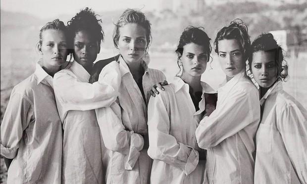 История одной фотографии Питер Линдберг, девушки в мужских рубашках
