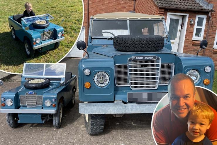 Папа сделал миниатюрную версию семейного Land Rover для четырехлетнего сына (6 фото)