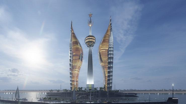 Башни от российского архитектора  фото  видео