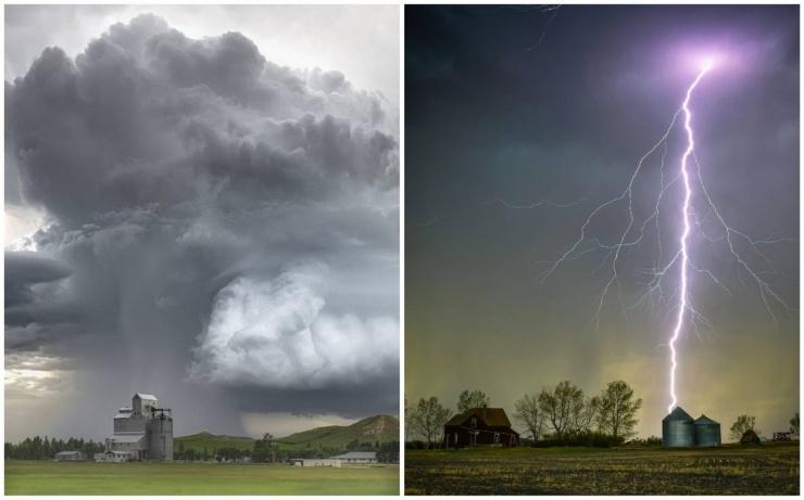 Торнадо, грозы и штормы на снимках Грега Джонсона