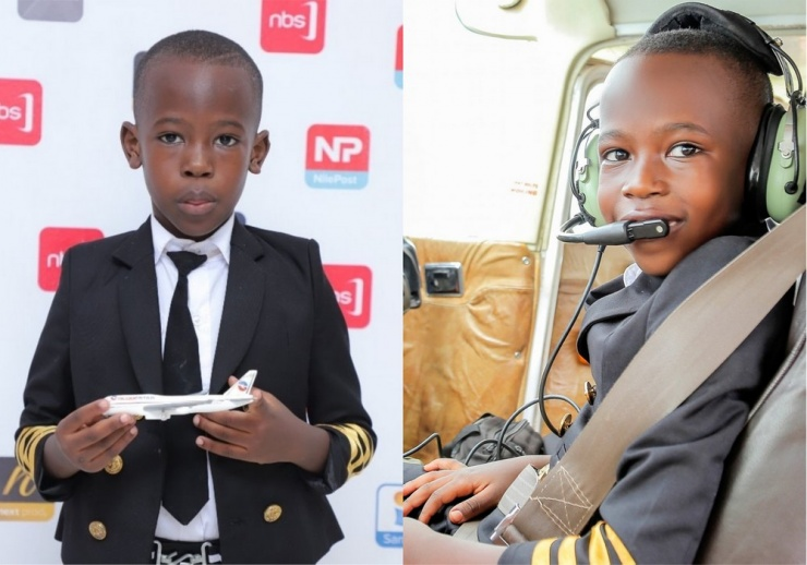 Семилетний пилот из Уганды