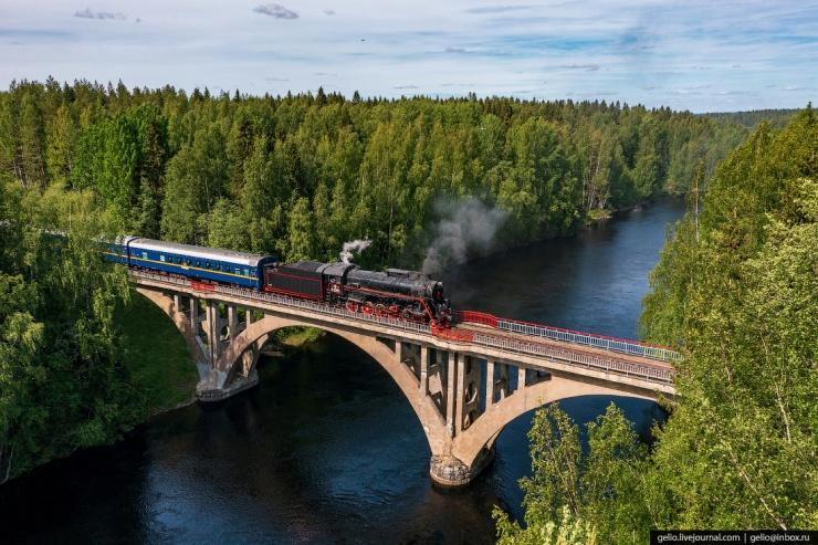 Рускеальский экспресс  ретропоезд в Карелии (18 фото)