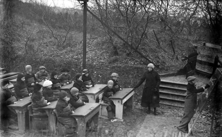 Почему перед Второй мировой войной многие дети учились в лесу (12 фото)