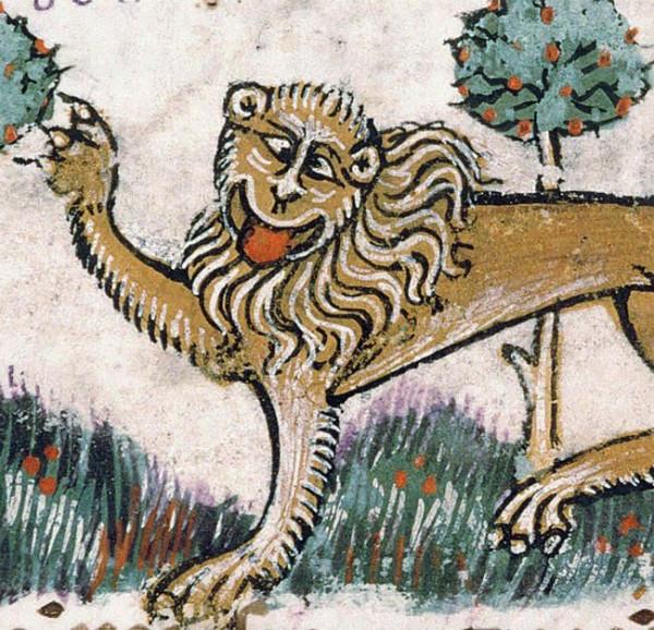 Похоже, средневековые художники никогда не видели настоящего льва (22 фото)