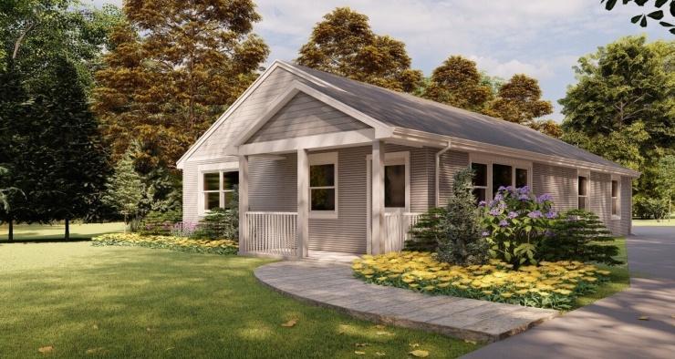 Впервые дом, созданный с помощью 3D-печати, выставлен на продажу в США