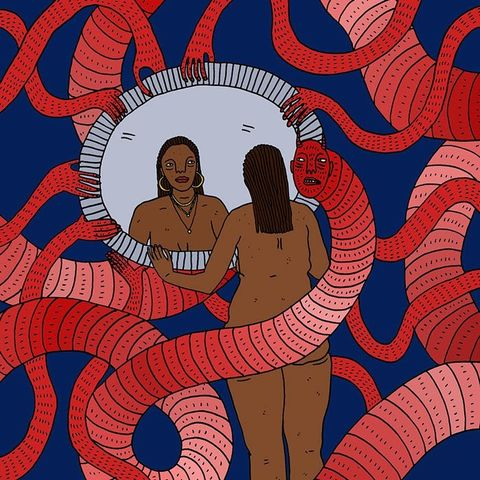 Женщины и их стремные демоны: иллюстрации Полли Нор