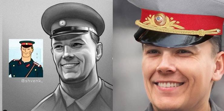 Художник «очеловечил» персонажей советских мультфильмов