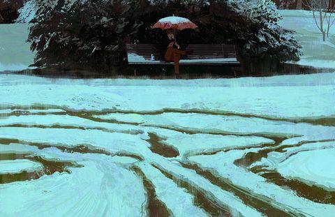 Городские зарисовки и теплые пейзажи Кэй Кан