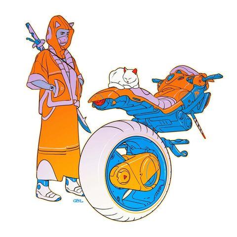 Великий визионер и легенда индустрии: концепт-арт Калума Александра Ватта
