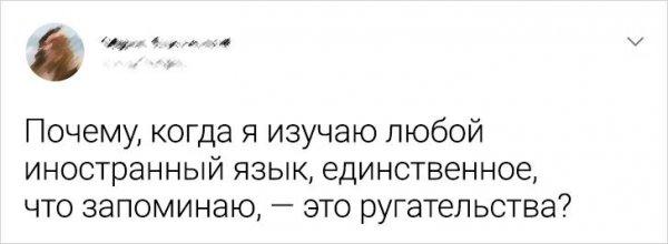 Подборка забавных твитов об изучении иностранных языков