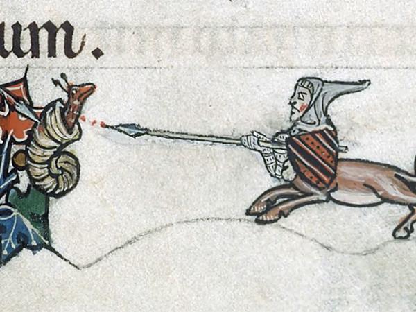 Почему на средневековых рисунках так много рыцарей, сражающихся с улитками