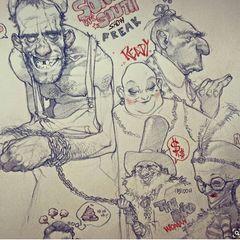 Гротескные портреты и иллюстрации Рауля Морено Косладо