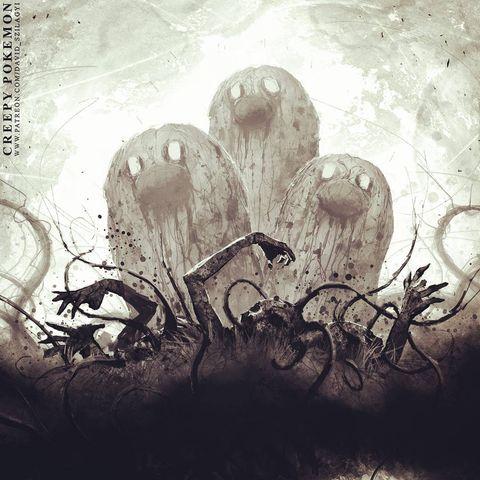 Жуткие покемоны художника Дэвида Силаги