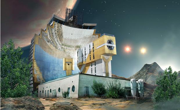 Советские постройки на других планетах
