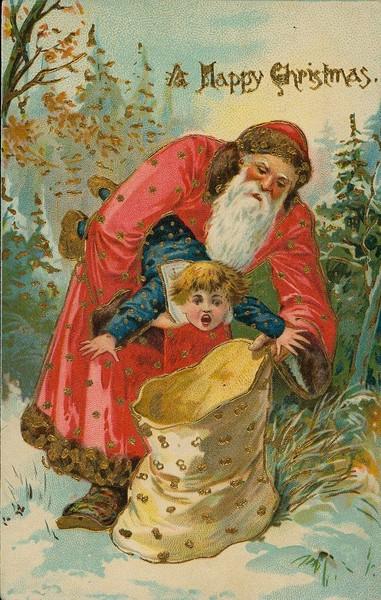 18 жутких старинных рождественских открыток