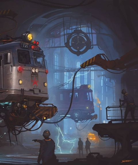 Хроники небесных городов: фантастические иллюстрации Алехандро Бурдисио