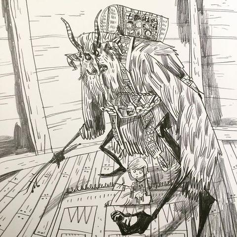 Чертовски комичные и крутые: рисунки Уорвика Кадвелла