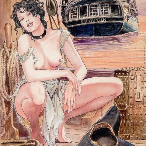 Классика комикс-эротики: изящные девы Мило Манары